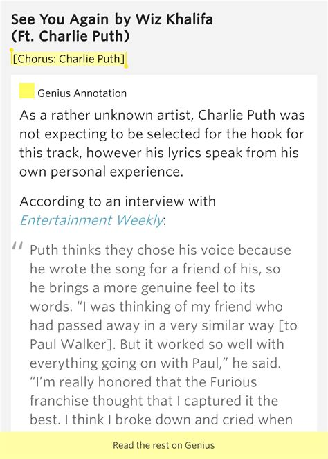 charlie puth how long meaning chorus charlie puth see you again lyrics meaning