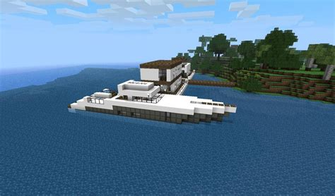 minecraft boat night luxury fishingboat minecraft project