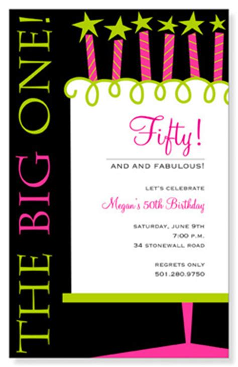 Celebrating 50th birthday party invitations amp party invitations
