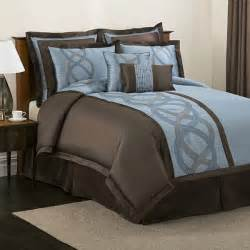 blue and brown comforter sets lush decor talon blue brown 8 comforter set free