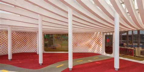 Tenda Anak Lorong desain aman dan nyaman gedung penitipan anak kompas