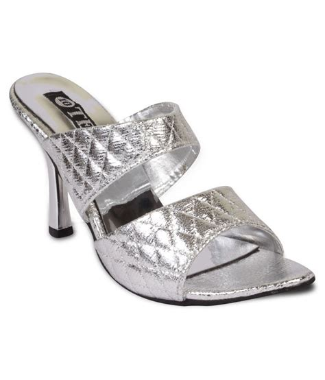 silver one slippers ten silver heeled slippers price in india buy ten silver