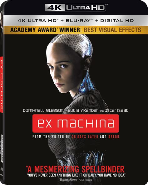 film blu ray 4k ex machina 4k blu ray