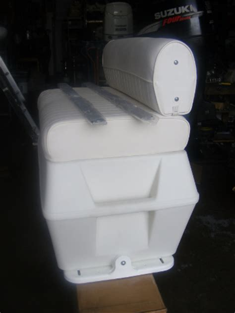 used swingback cooler boat seat wise seating 50 q swingback cooler seat 32wx35hx18d center