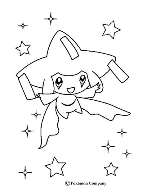 pokemon coloring pages jirachi psychic jirachi coloring pages hellokids com