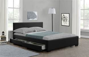 King Bed Frame With Storage Nz 4 Drawers Storage Bed Or King Size Faux Leather