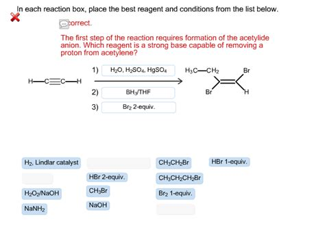 A Place Reaction In Each Reaction Box Place The Best Reagent And C Chegg