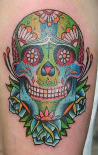 brainsy heart sugar skull tattoo