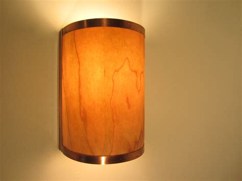 Copper Wall Sconce Rustic Wall Sconce Light Copper With Cherry Wood Electric