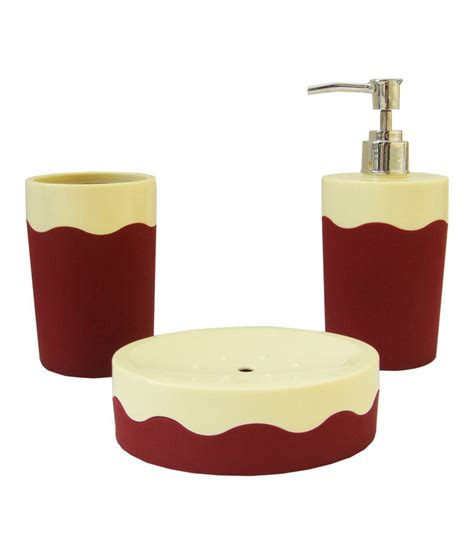 buy acroset and maroon abs bathroom set 3 pcs