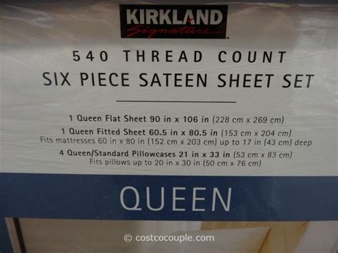 what is the best thread count for sheets kirkland signature 540 thread count sateen sheet set