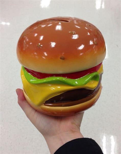 hamburger bank hamburger piggy bank objects