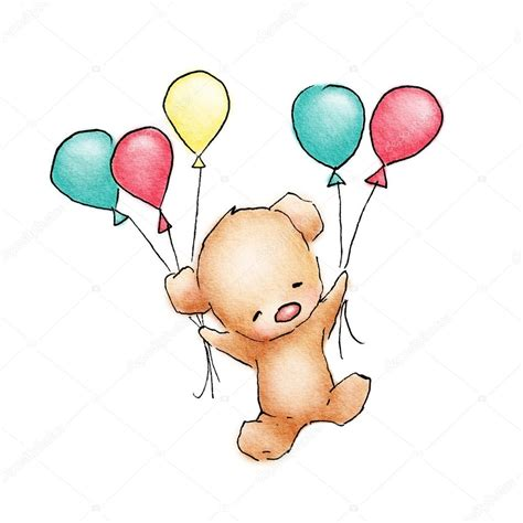 flying color baby ursinho voando bal 245 es coloridos foto stock