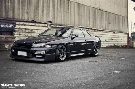 stancenation skyline nissan skyline r33 black stance nation cars