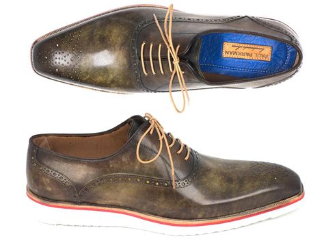 army oxford shoes paul parkman smart casual oxford shoes for army green