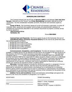 home remodel template home remodeling contract 7 documents in pdf