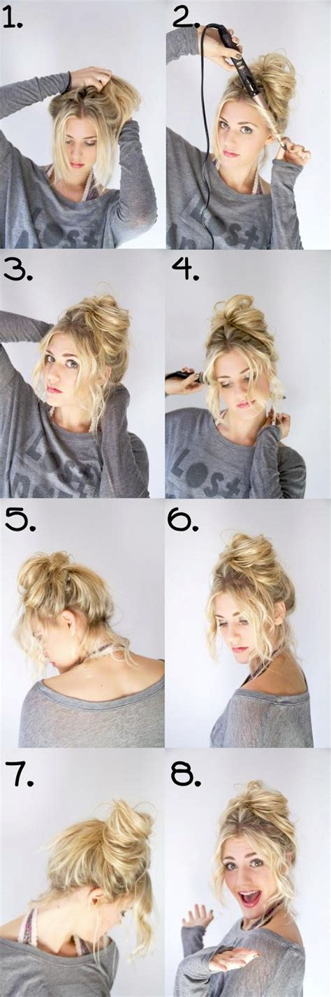 how do you do a messy bun cute messy bun hairstyles how to