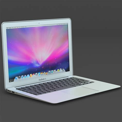 Laptop Air 3d macbook air apple laptop