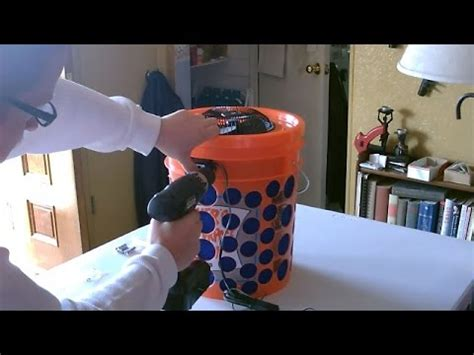 diy air filter   gallon bucket air filter