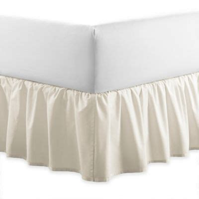 full bed skirt buy ruffled eyelet twin full bed skirt in white from bed bath beyond