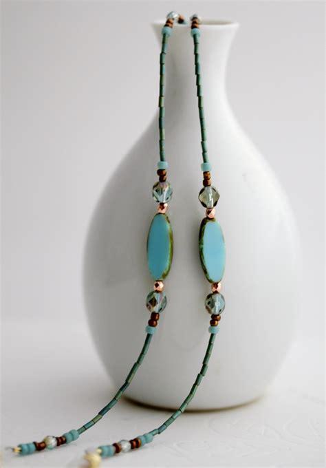 eyeglasses chain necklace turquoise eyeglass necklace