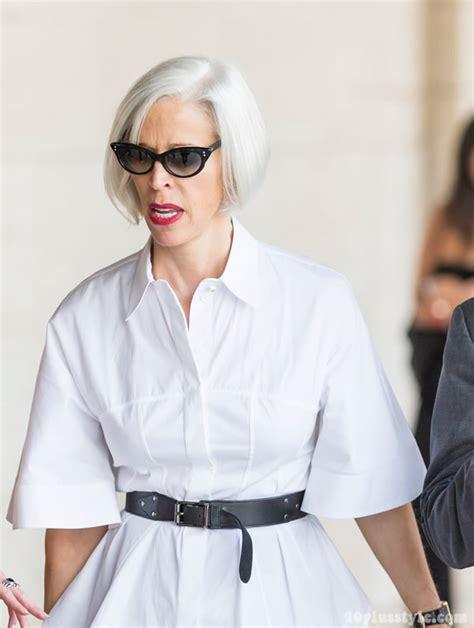 paris women over 40 chic fashion short hair streetstyle at new york fashion week as worn by 40 women