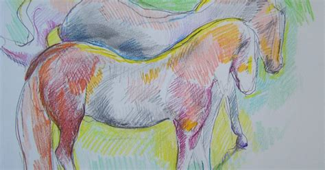 arbitrary colors drawings and studies of horses arbitrary colors