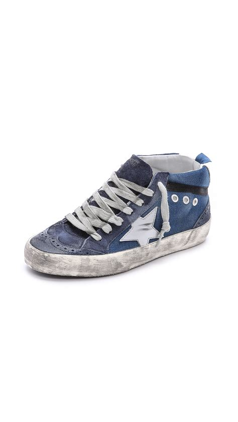Sneakers Denim golden goose deluxe brand mid sneakers denim in blue denim lyst