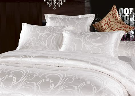 white silk bedding sets aliexpress buy silver white silk jacquard satin