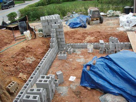building a concrete block house block walls