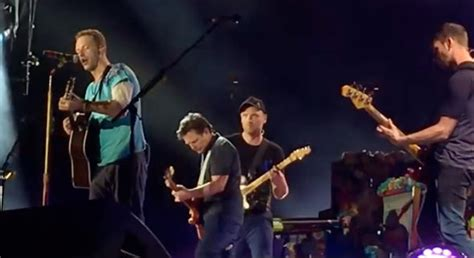 michael j fox coldplay michael j fox joins coldplay to play back to the future