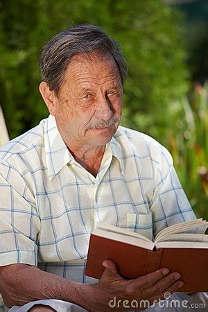 man reading book stock photo image