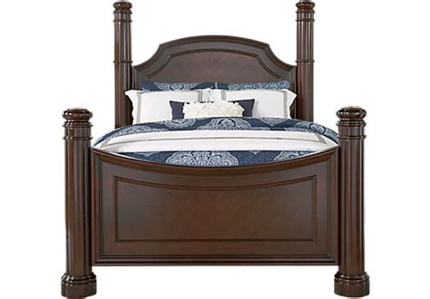 dumont bedroom furniture dumont cherry 3 pc king low poster bed beds dark wood