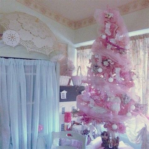 pink christmas shabby chic vintage christmas loves