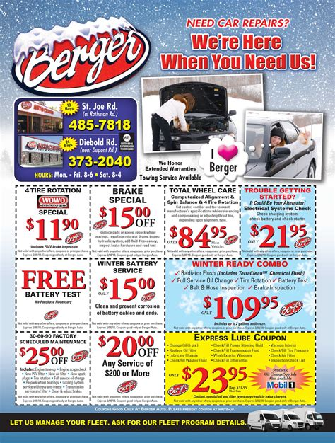 Auto Berger by Berger Auto Parts Service Inc Coupons Fort Wayne In