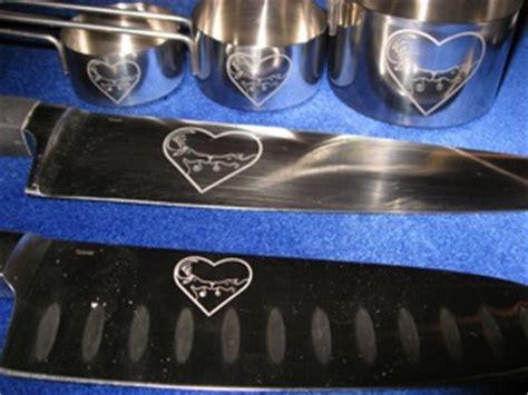 engraved chef knives custom metal engraving