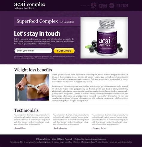 subscribe page design best conversion centered weight loss landing pages 2014