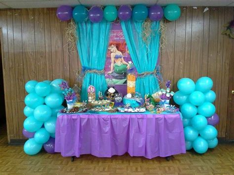 mermaid themed decorations the mermaid birthday dessert buffet also