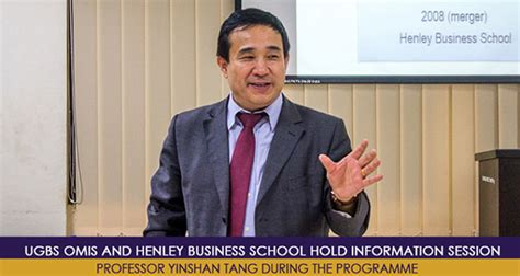 Henley Mba Entry Requirements by Ugbs Omis And Henley Business School Hold Information