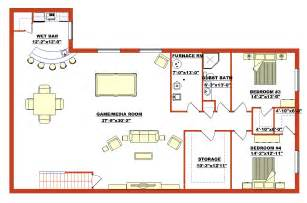 Home Floor Plans With Basement by Ranch Style Bungalow 2008418 By E Designs
