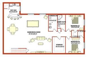 floor plans with basement ranch basement floor plan n a