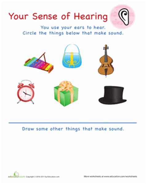 your sense of hearing | worksheet | education.com