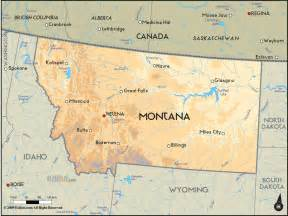 Maps Of Montana by Geographical Map Of Montana And Montana Geographical Maps