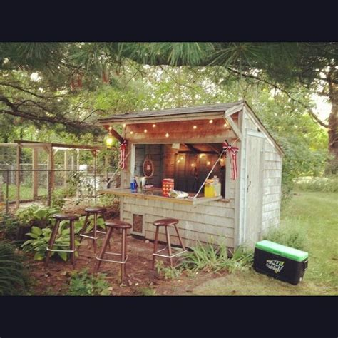 The Backyard Bistro by Shed Turned To Bar In 5 5 Hours Tiki Bars And Bar Sheds Gardens Backyards And Bar