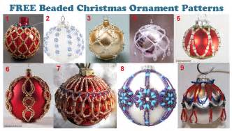 free patterns beaded ornaments check them out