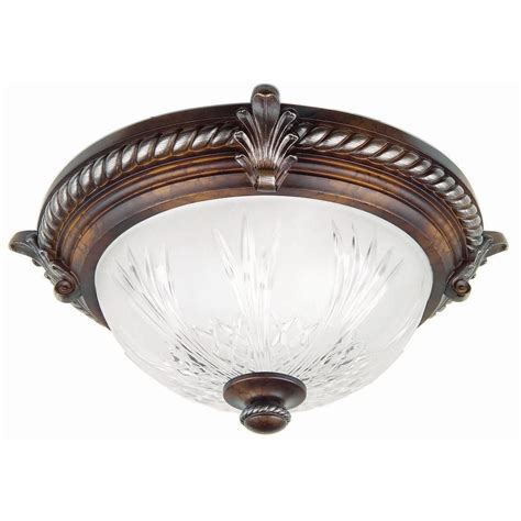hton bay bercello estates flush mount fixture the