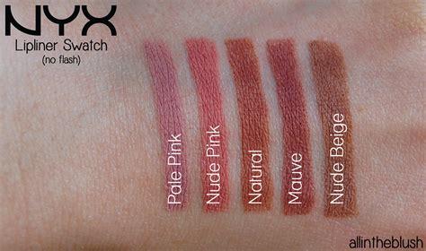 Nyx Slim Lip Liner Pencil Pink nyx slim lip pencils review swatches
