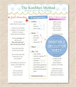 Bedroom Declutter Kon Mari Method Cheat Sheet 187 Home Design 2017