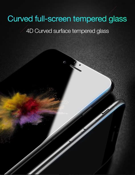 Iphone 7 47 4d Curved Cover Tempere Kode Df1755 1 bakeey 4d curved edge cold carving tempered glass screen protector for iphone 7 plus 5 5 inch
