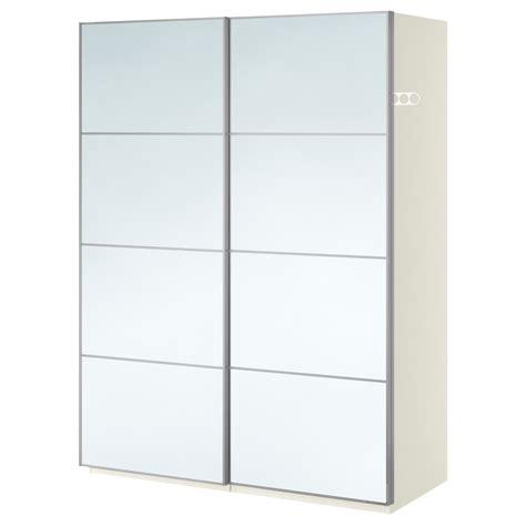 ikea white wardrobe with mirror pax wardrobe white auli mirror glass 150x66x201 cm ikea
